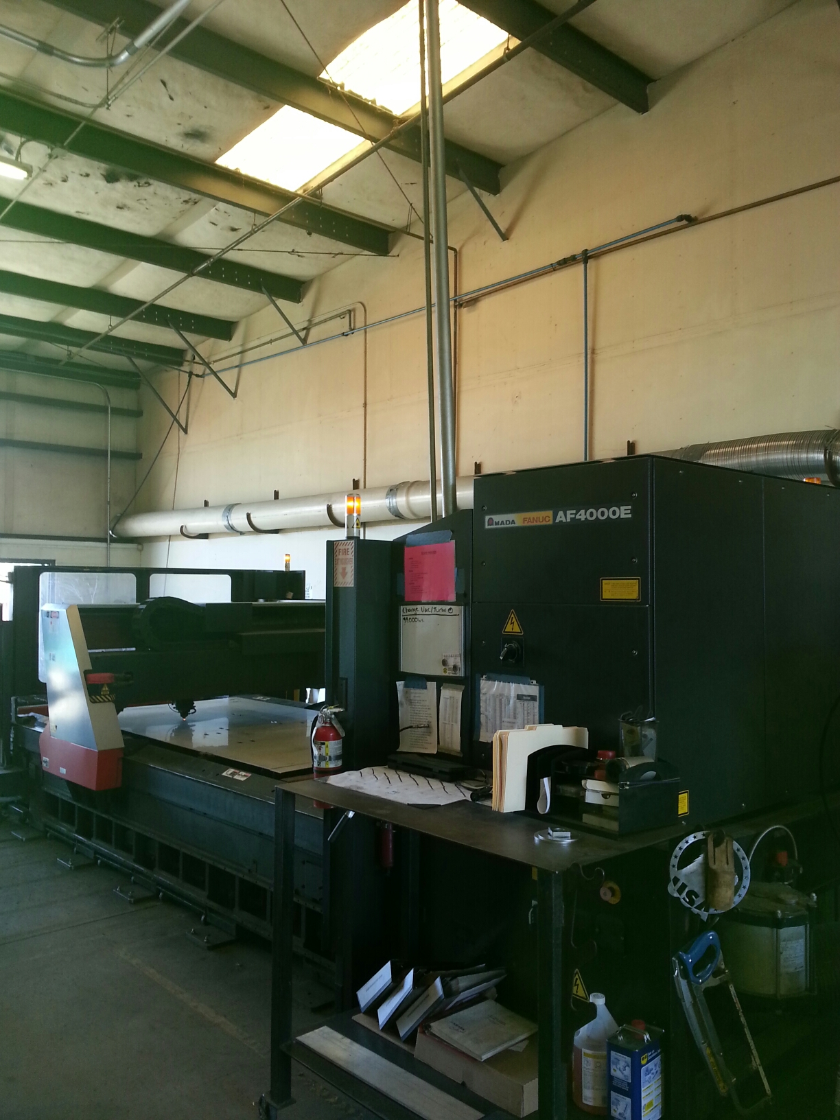 4000 Watt Amada Fo 3015 Laser Cutting Machine New 2001